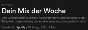 Spotify Dein Mix der Woche speichern