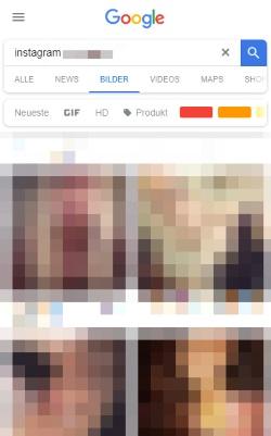 Eigene Instagram Bilder bei Google löschen